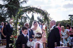il primo sguardo degli sposi